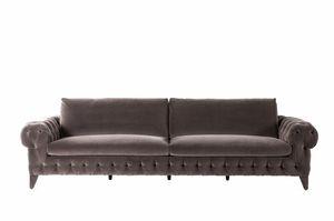 Chrysler divano, Divano dallo stile classico, con imbottitura capitonnè