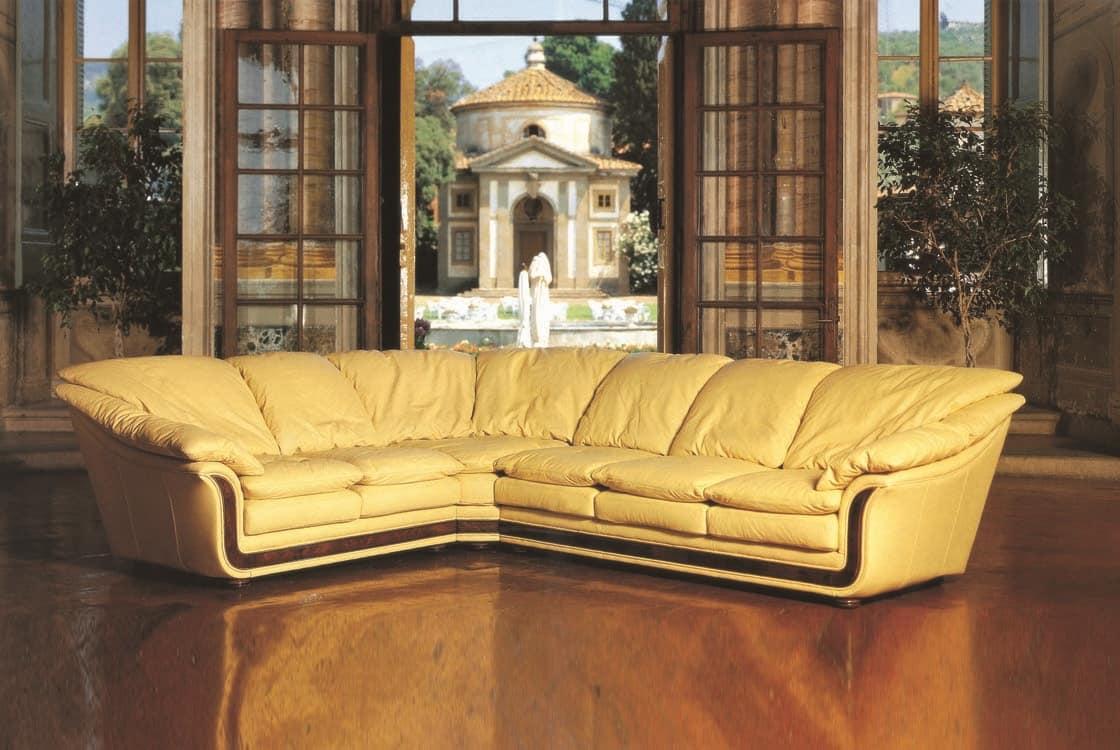 divano angolare, in vera pelle | idfdesign - Pelle Dangolo Divano Minimalista