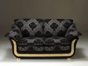 Croniche divano, Divano in stile classico, interamente fatto a mano in Italia