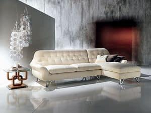 DI11 Cherubino divano, Divani angolari componibili con penisola, imbottiti con poliuretano