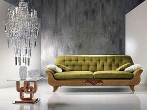 DI13 Cherubino divano, Divano classico, schienale capitonn�, per salotti moderni