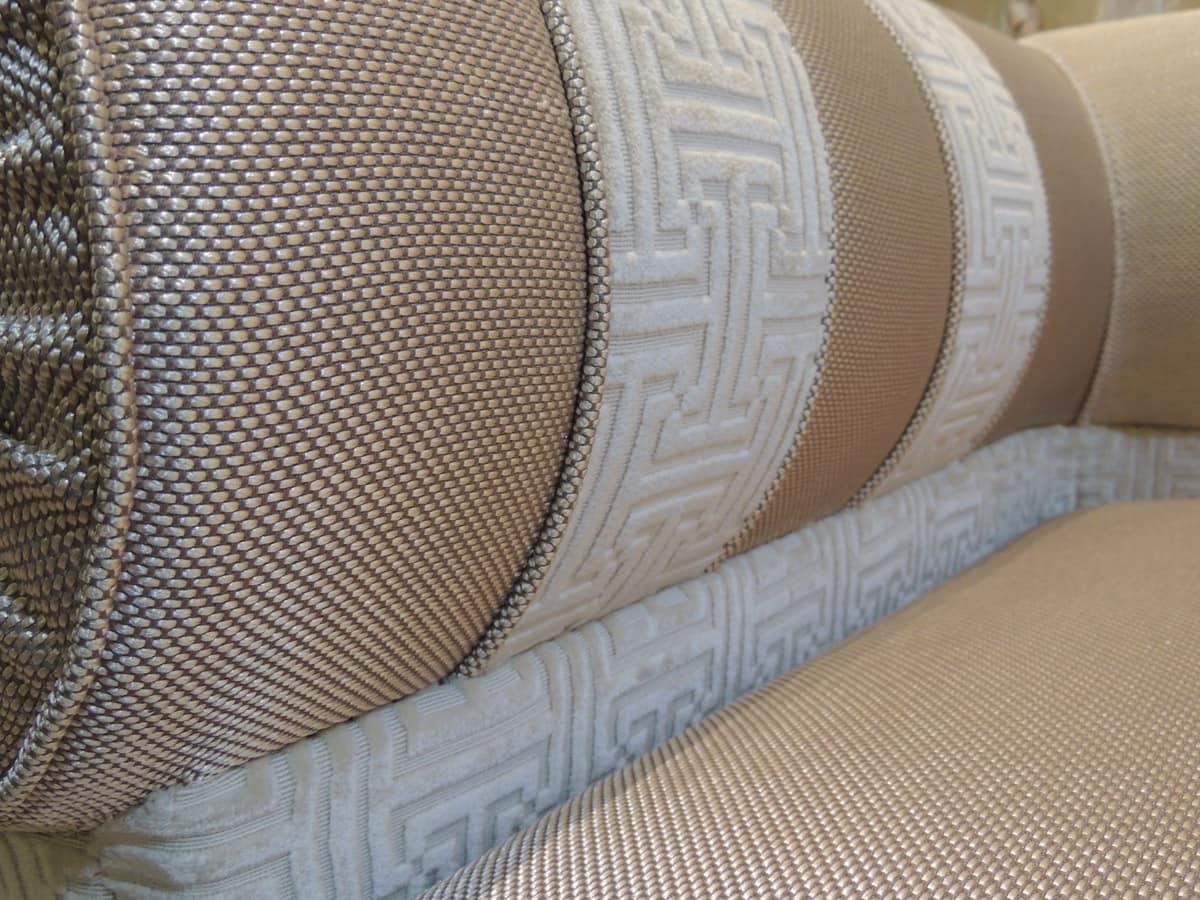 Divano modulare per il salotto rivestito in tessuto - Tessuto rivestimento divano ...