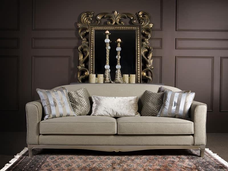 DORIAN divano 8557L, Divano imbottito in legno, per uso residenziale e alberghiero