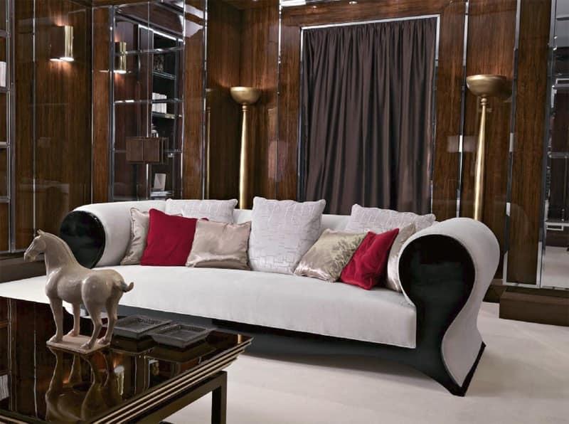 Divano classico contemporaneo, di lusso, in legno laccato ...