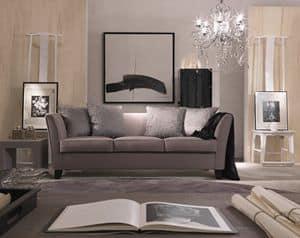 Genny, Elegante divano in stile classico contemporaneo