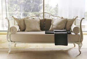 Gi� sofa, Divano letto in ferro piatto trafilato, stile moderno
