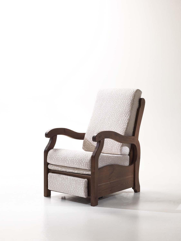Poltrona relax di piccole dimensioni, stile rustico | IDFdesign