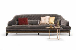 Jade divano, Ampio divano con cuscini decorativi