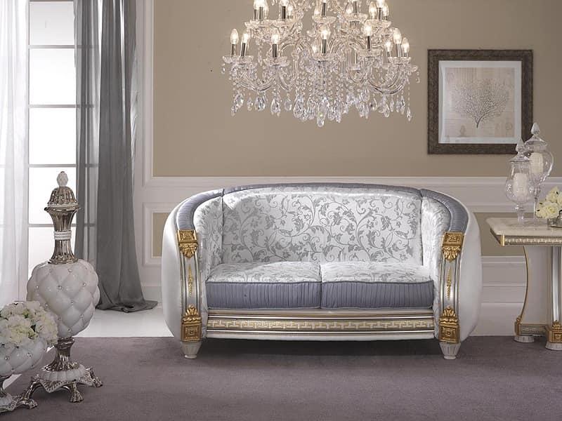 Liberty divano, Divano classico di alta qualit�, con preziosi tessuti personalizzabili, per salotti e sale attesa