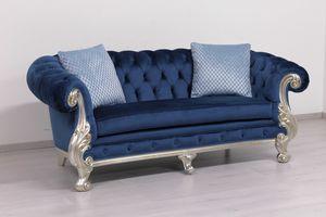Manchester divano pelle, Divano classico di lusso, imbottitura capitonn�