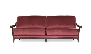 Marlon divano, Divano in legno, rivestito in tessuto