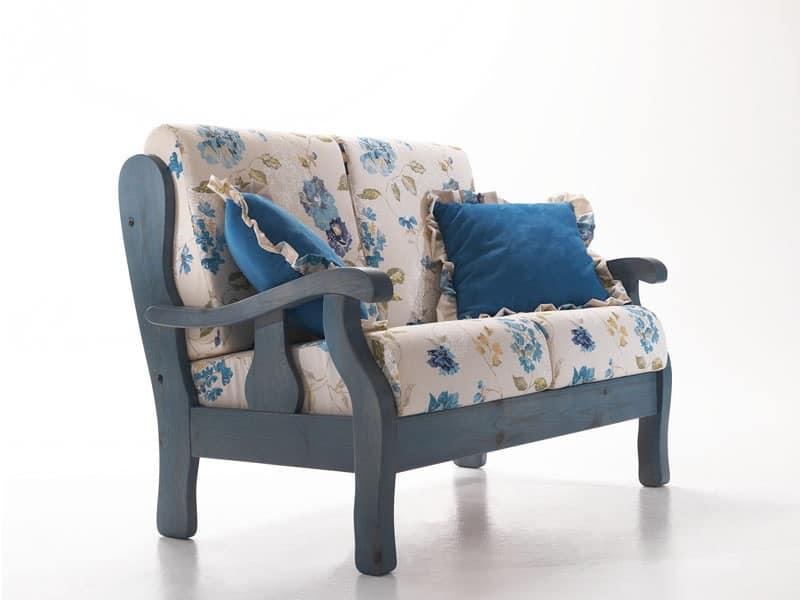 divano rustico, divano in legno, divano in stile provenzale Taverna ...
