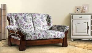 New Jersey divano, Divano country in legno massello