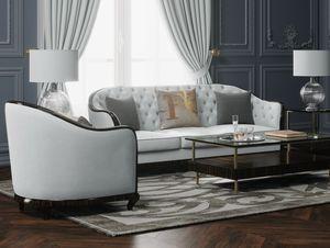 New York/CL divano, Divano con avvolgente schienale arrotondato