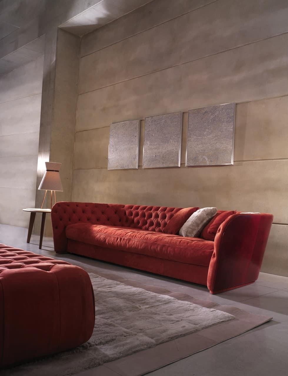 Divano rosso con sceslong divano rosso posti idee per il design della casa divano chesterfield - Divano rosso ikea ...