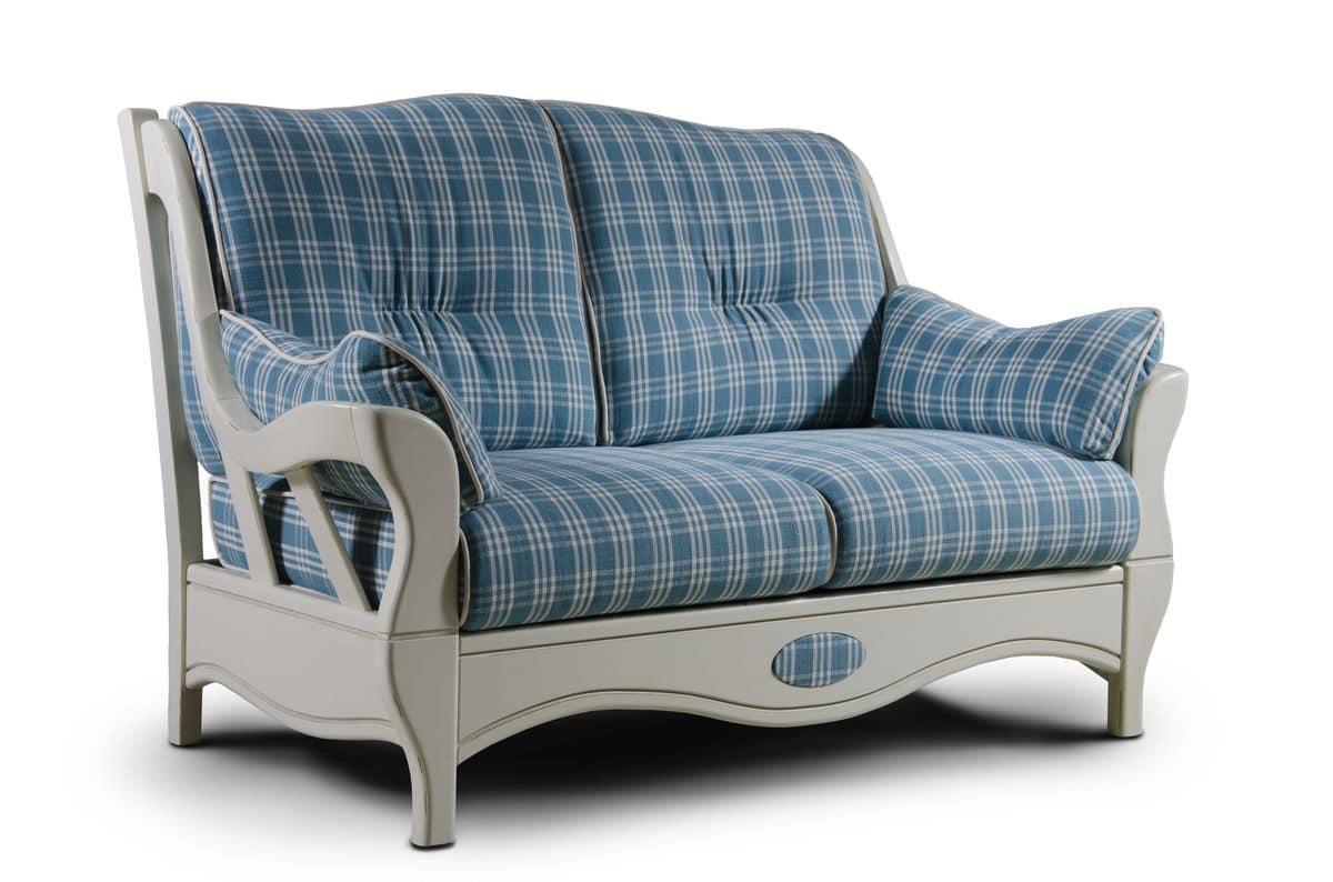Divano a due posti stile country idfdesign for Poltrone e sofa divano letto due posti