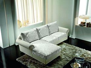 Tiffany, Divano classico con chaise longue