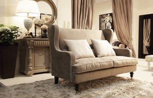 Venere divano, Divanetto per ambienti classici, disponibile con volant