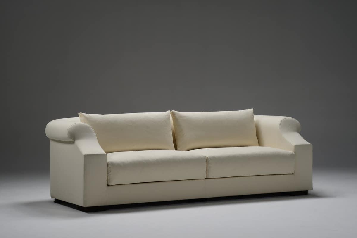 Ricercato divano rivestito in tessuto per salotti - Tessuto per divano ...