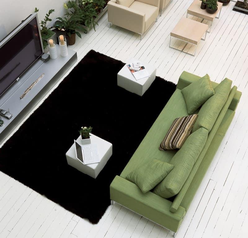 Divano letto con struttura in legno massello piede for Divano letto ribaltabile