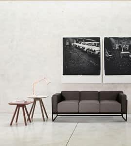 ART. 0062 0064 KIRK, Elegante collezione di divani a due e tre posti