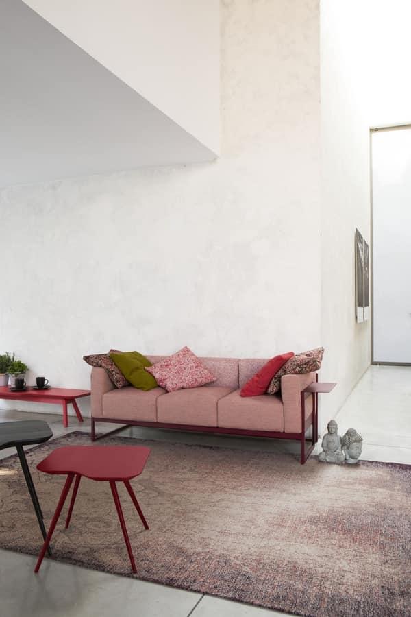 ART. 0062 0063 0064 KIRK, Elegante collezione di divani a due e tre posti