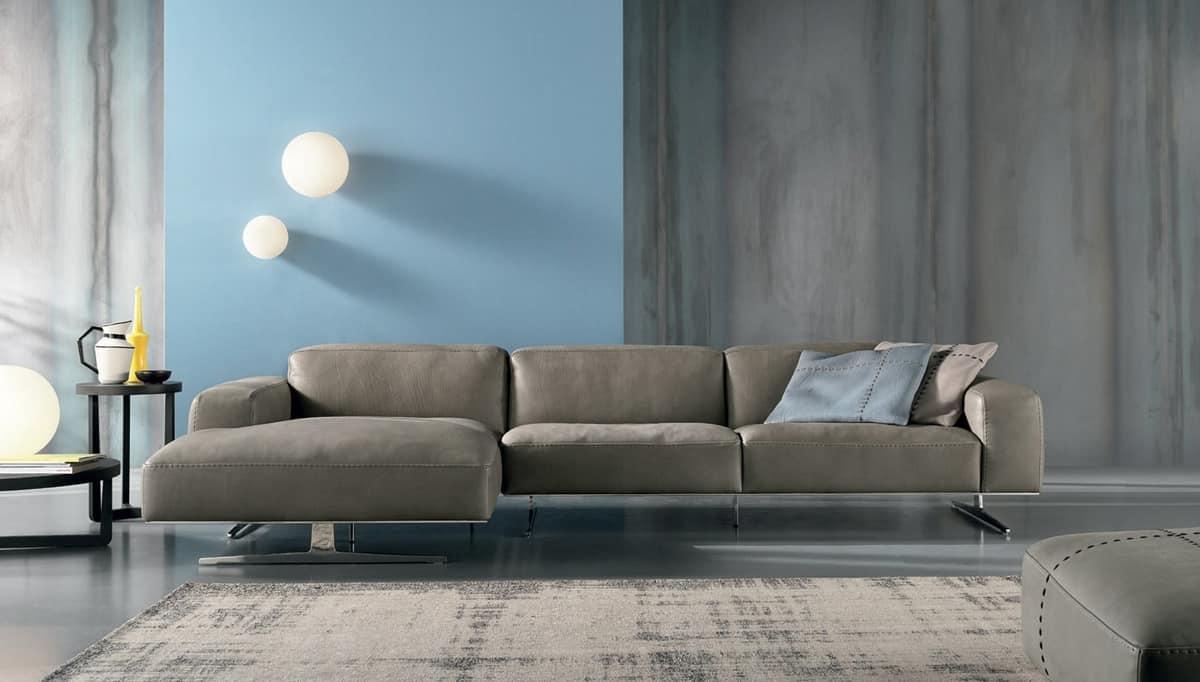 Divano a 3 posti con chaise longue  IDFdesign