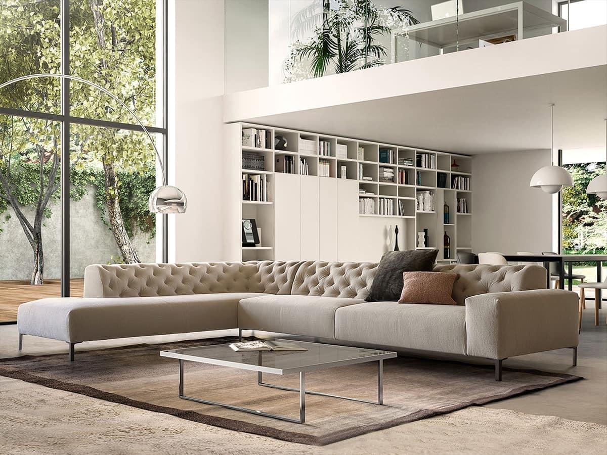Confortevole divano dal design raffinato idfdesign for Outlet divani design