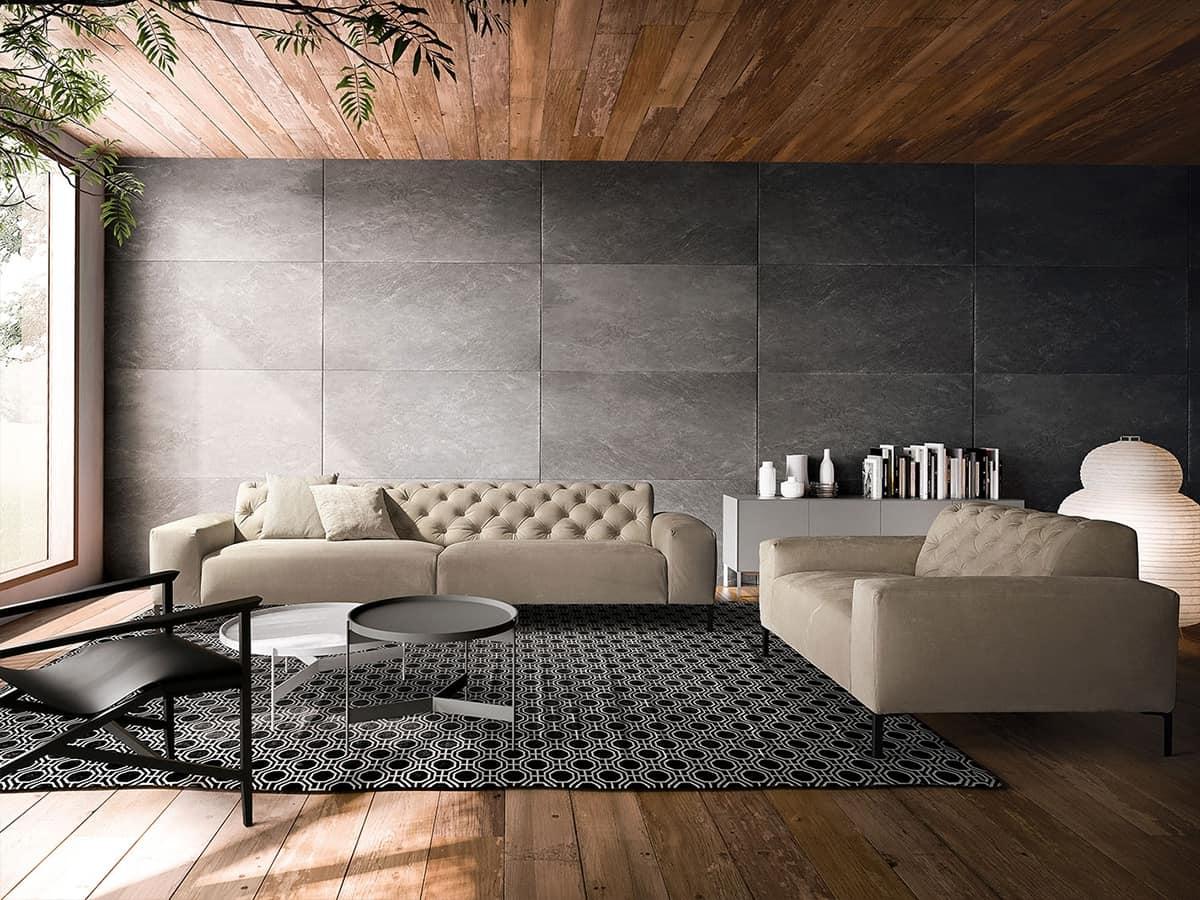 Confortevole divano dal design raffinato idfdesign for Mobili design occasioni divani