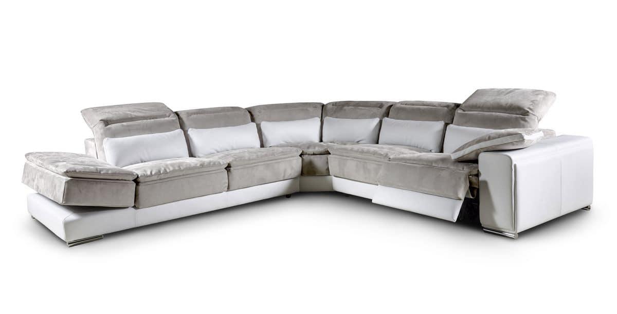 divano angolare modulare con meccanismo di reclinazione idfdesign. Black Bedroom Furniture Sets. Home Design Ideas