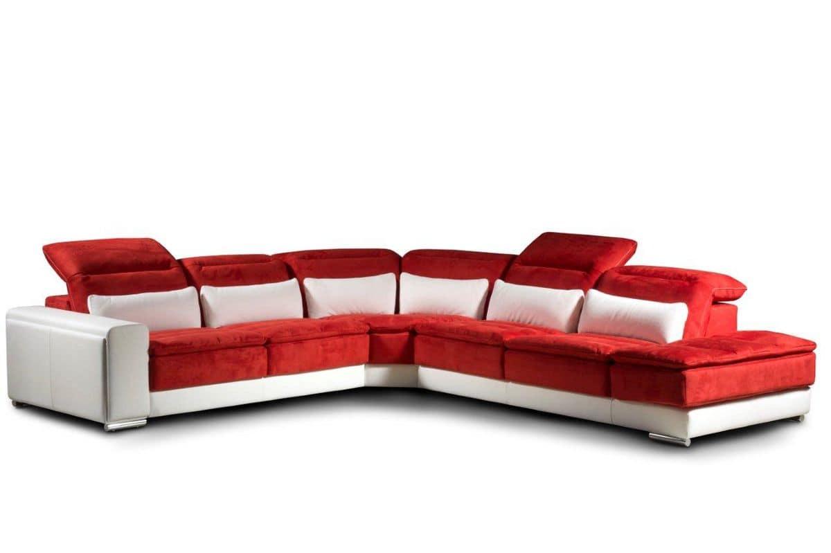 divano angolare modulare con meccanismo di reclinazione