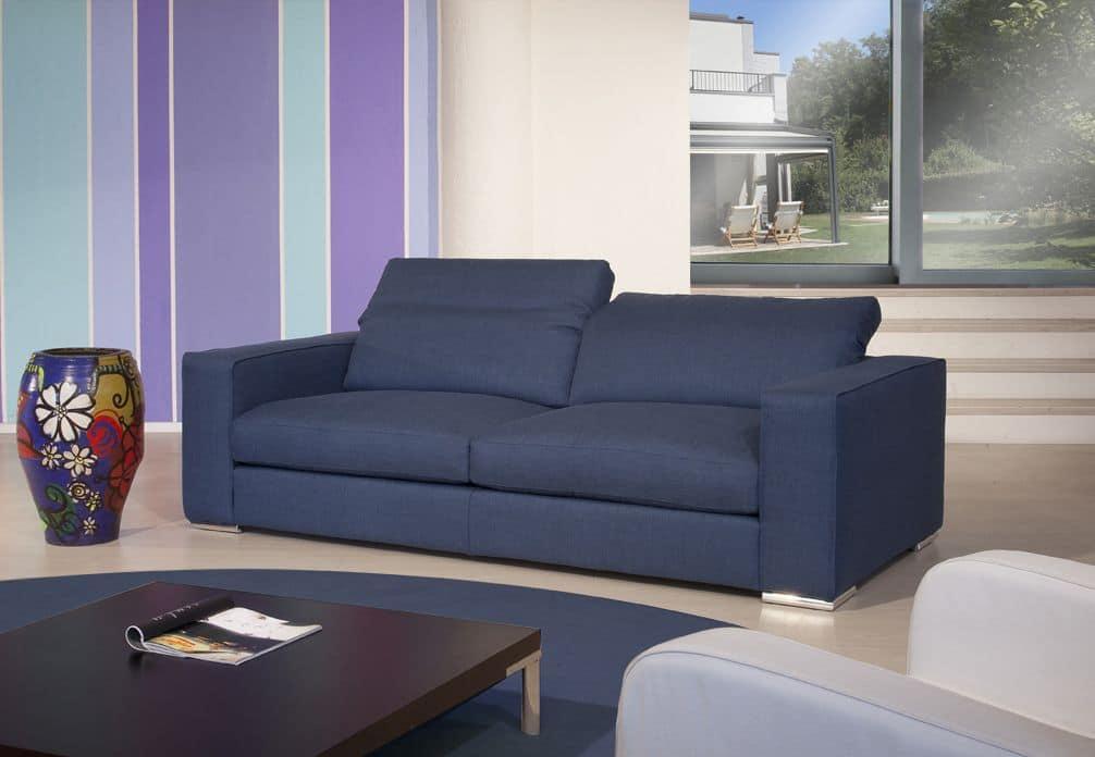 Divano 2 piazze in tessuto adatto per salotti moderni idfdesign - Salotti di design ...