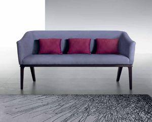 DI53 Club divano, Divanetto con rivestimento liscio