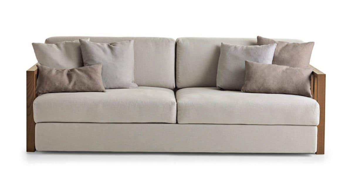 Divano 3 posti rivestimento in tessuto per salotto - Tessuto rivestimento divano ...