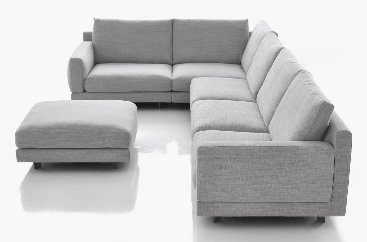 Divano componibile disponibile con 2 profondit idfdesign - Profondita divano ...