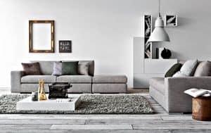 Family, Divano letto lineare per salotto, divano moderno per la casa