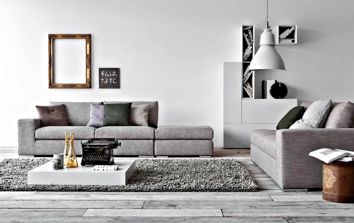 Divano letto lineare per salotto divano moderno per la for Salotto design moderno