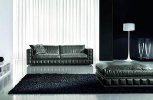 Gordon Plus, Raffinato ed elegante divano, con cuscini sfoderabili