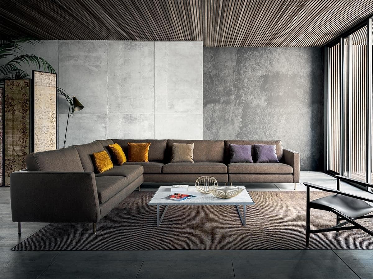 Incontro, Divano dal design semplice ed essenziale