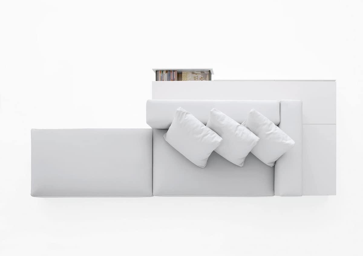 Insieme, Divanetto design componibile, per salotti moderni