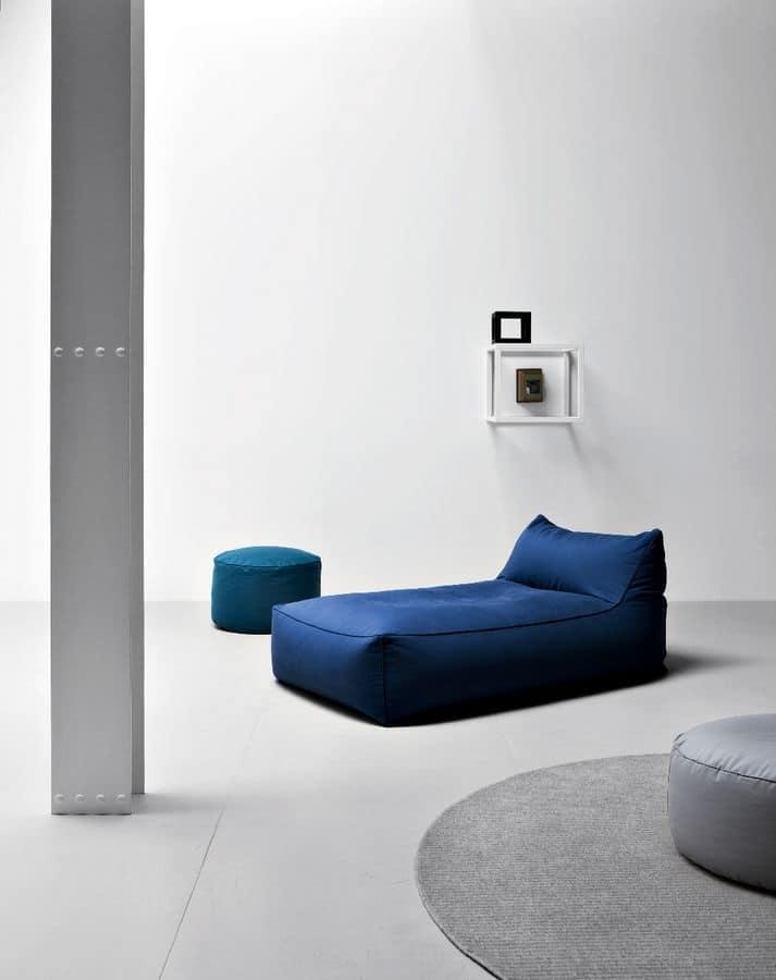 Limbo divano, Divano modulare design in polistirolo, senza struttura rigida