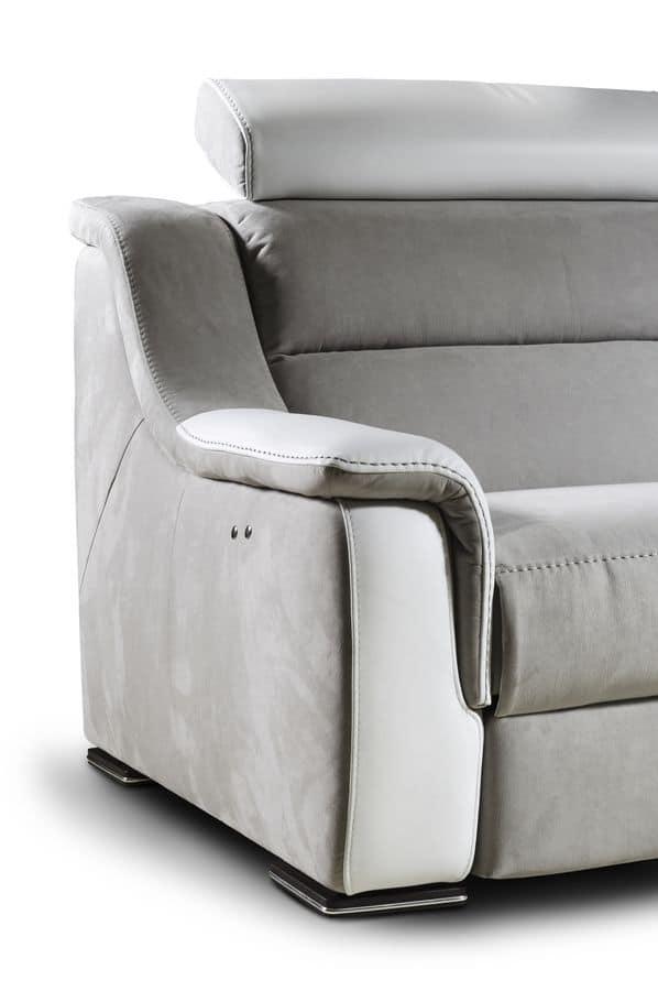 Divano a due posti con poggiatesta, schienale reclinabile  IDFdesign