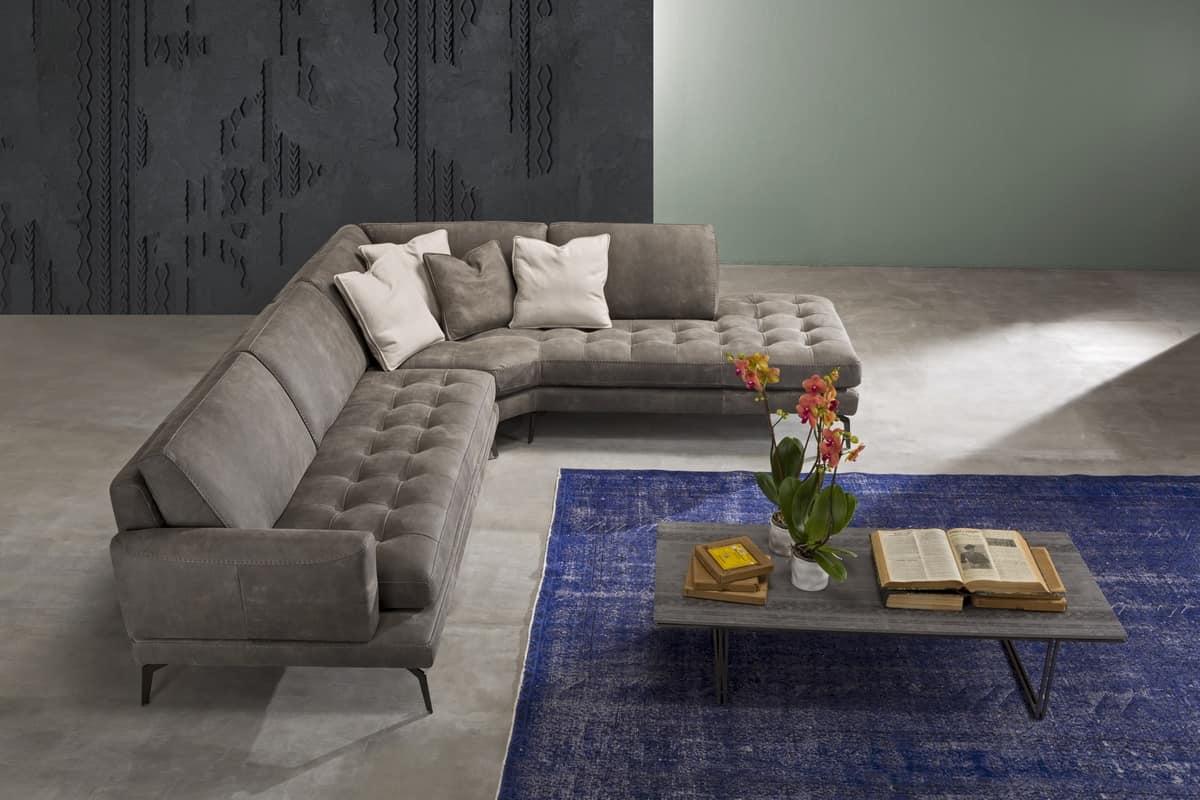 Divano con doppia seduta divano con seduta bassa everet - Foderare un divano ...