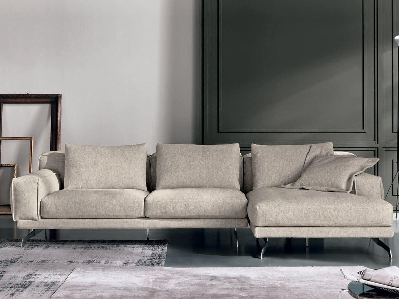 Divano componibile con chaise longue idfdesign for Divani moderni con chaise longue