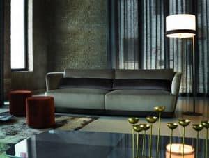 OASI divano, Divano design confortevole, con cuscini in piuma