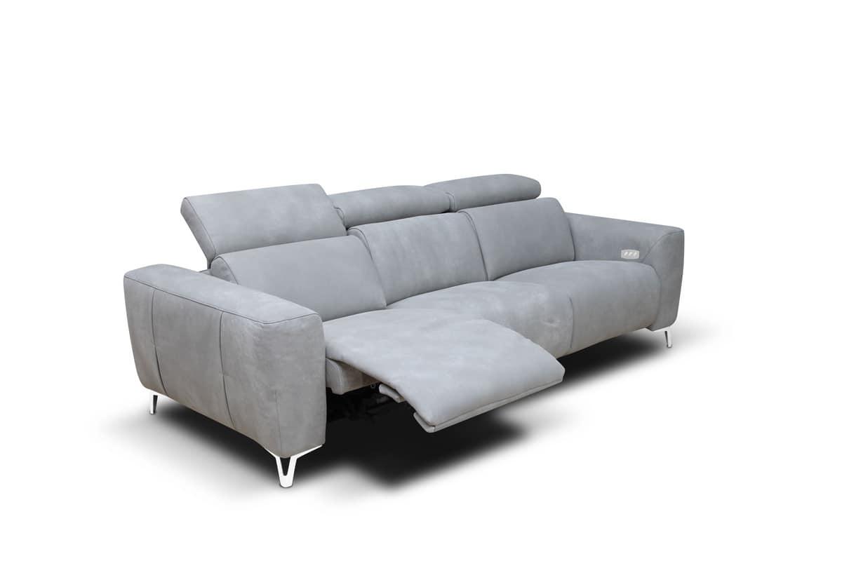 Divano con meccanismo per poggiatesta e poggiapiedi - Poggiatesta per divano ...