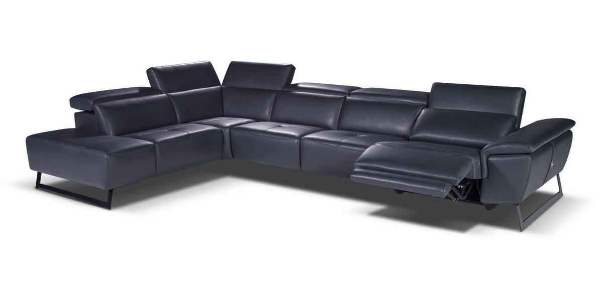 Grande divano angolare in pelle | IDFdesign