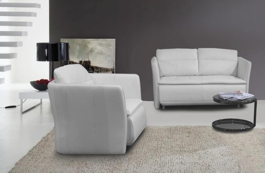 Divano per soggiorni minimalisti o camere moderne  IDFdesign