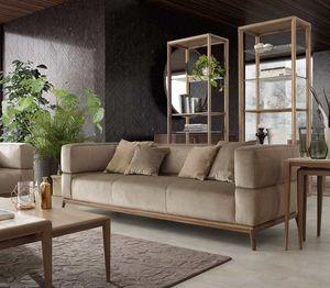 Alba divano, Divano a tre posti con tessuto intrecciato