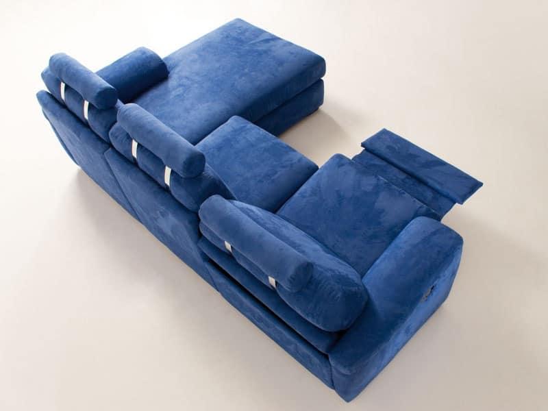 Divano relax comodo basculante e allungabile per studio idfdesign - Divano con seduta allungabile ...